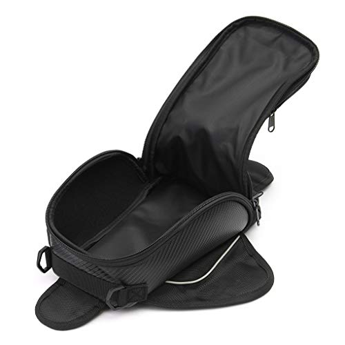 - OmkuwlQ 16.6x10.5cm Universal Magnetic Motorcycle Bike Oil Fuel Tank Bag Waterproof Pocket Saddlebag