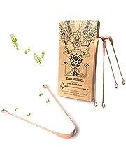 3 Tongreinigers gemaakt van koper - Nature Nerds, 100% gerecyclede verpakking Jihwa Prakshalana - Een Ayurvedisch ontgiftingsritueel met de tongkrabber