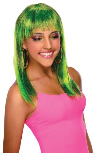 [Rubie's Costume Glamorous Wig, Neon Green, One Size] (Neon Green Wigs)
