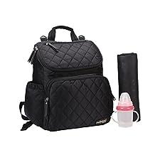 AMYAMY Baby Diaper Bag Travel Backpack Handbag Large Capacity Fit Stroller,(Black-CA)
