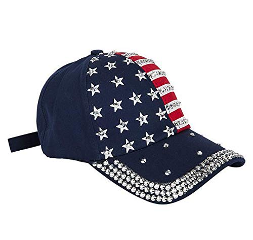 DollarItemDirect Patriotic Bling Baseball Cap, Case of 36