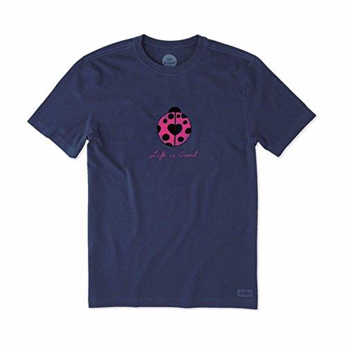 Life is Good Women's Lady Bug Love Crusher T-Shirt, Darkest Blue, XL