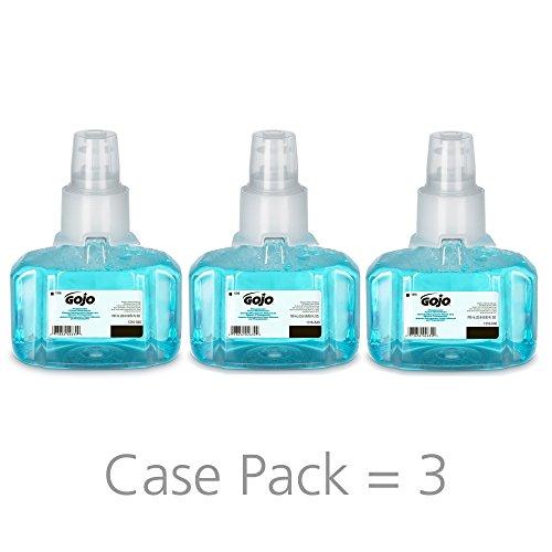 GOJO LTX-7 Pomeberry Green Certified Foam Handwash, Pomeberry Fragrance, 700 mL Handwash Refill for GOJO LTX-7 Touch-Free Dispenser (Pack of 3) - 1316-03