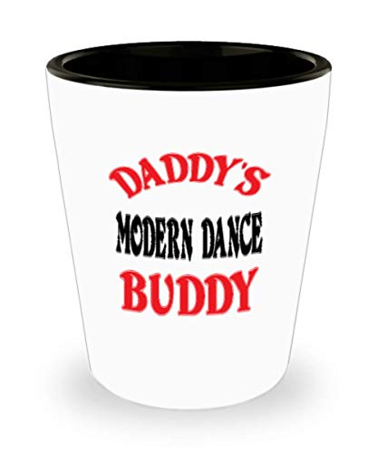 White Ceramic Shot Glass Daddy's Modern Dance Buddy Coffee Mug - Unique Cool Cute Father's Day Gifts Trust Me Great Novelty Gift Dad,al4758