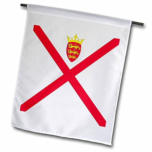 3dRose InspirationzStore Flags - Flag of Jersey - Channel Island - British Bailiwick Isle - Duchy of Normandy - UK United Kingdom - 12 x 18 inch Garden Flag (fl_158344_1)