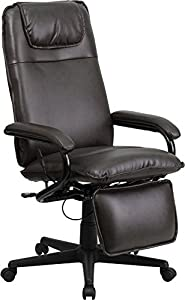 Flash Furniture High Back Black Leather Executive Reclining Office Chair