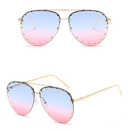 Vogue Mens Femmes Lunettes Cadre Sunglasses Soleil Métal Mode Lunettes Zhuhaitf de et Bonbon Couleur pour Hommes des Unisexe de amp;pink Ladies Blue d4EO0nExwF