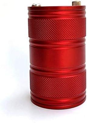 CWC 、黒の広がりを防ぐ煙に自動カップホルダーアルミ合金灰皿、カバー、シールリング付き多目的車の灰皿 (Color : Red)