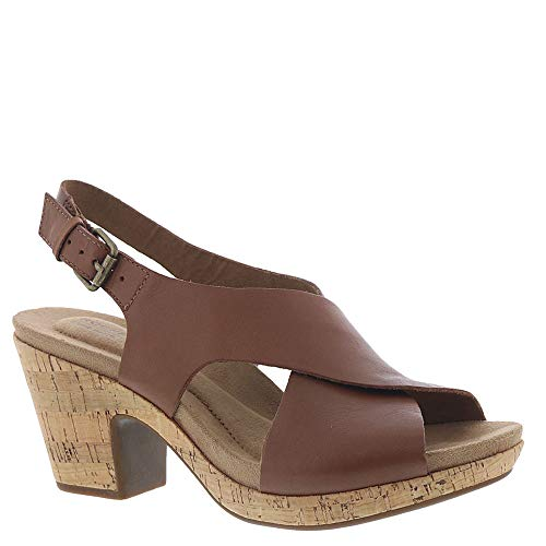 Cobb Hill New Rockport Women's Alleah Sling Sandal Tan Leather 7.5