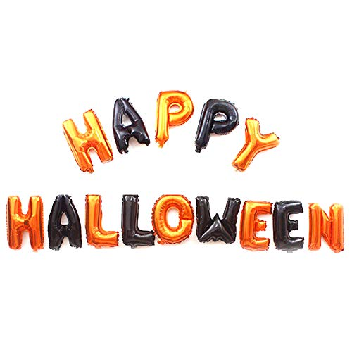 Yosoo 16Inch Happy Halloween Letters Foil Balloons House