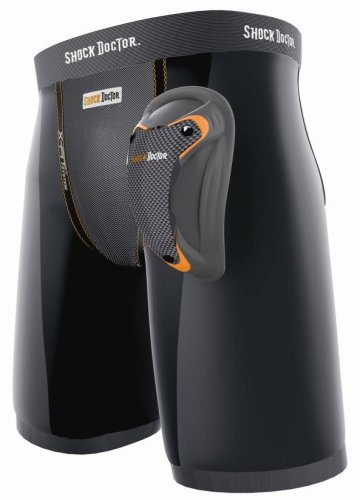 - Shock Doctor Men's Ultra LAX Short with Ultra Carbon Flex Cup (X-Large, Black)