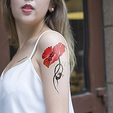 tzxdbh Etiqueta engomada del Tatuaje Temporal Impermeable Flor ...