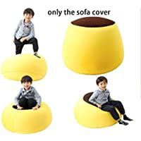 Quwei ChildrenComfortable Leisure Creative Chair Seat Sofa Bean Bags Sofa Sets (yellow)