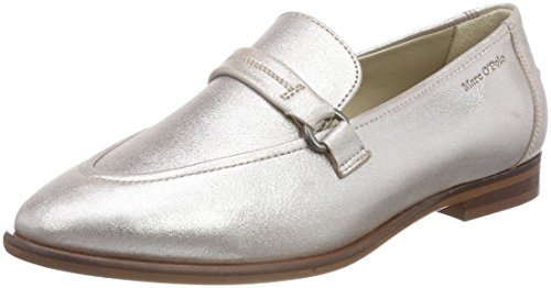 165 O'Polo Mujer Loafer Plateado Mocasines 80214153201100 para Marc Silver Owq87Cx7