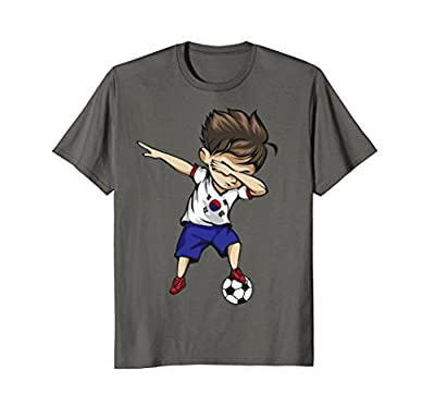 Dabbing Soccer Boy South Korea Jersey Shirt Korean Football