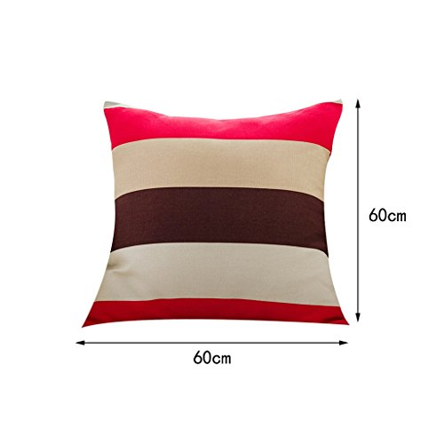 LQQGXL Cushion, Back cushion Nordic-style mixed striped sofa Pillow Pillow Sofa Pillow Mediterranean back cushions Home fabric cushions (Color : Color-b, Size : 6060cm) by LQQGXL (Image #1)