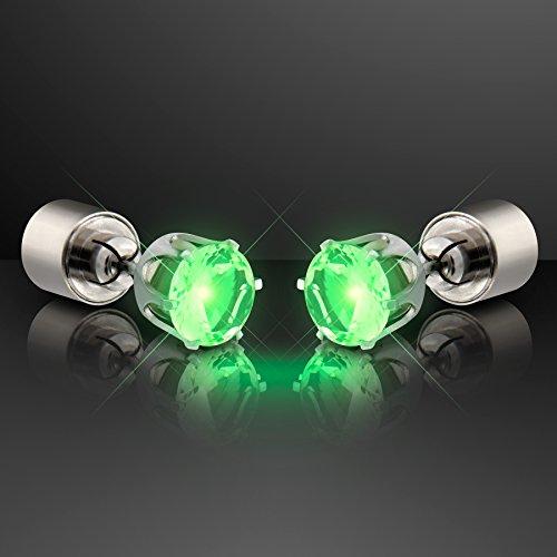 Emerald-Green-Light-Up-LED-Earrings-for-Pierced-Ears