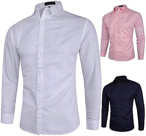 U/A formal de los hombres camisa vestido blusa masculina de ...