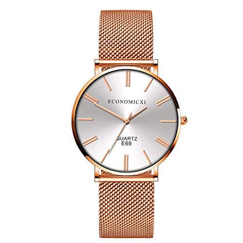 Yucode Women Luxury Analog Quartz Stainless Steel Mesh Band Casual Fashion Ladies Wrist Watches Bracelet Dress - Winder Monaco Watch