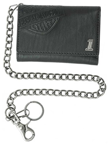 Harley Davidson Trifold Wallet Embossed CR2314L Black