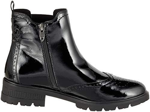 25491 Women's black Tamaris Chelsea 21 Black Patent Boots 18 xUdUwq6v