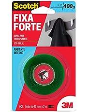 Fita Dupla Face 3M Scotch Fixa Forte Transparente - Uso Interno - 12 mm x 2 m