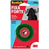 Fita Dupla Face 3M Scotch Fixa Forte Transparente - Uso Interno - 12 mmx2 m, Scotch, HB004419873