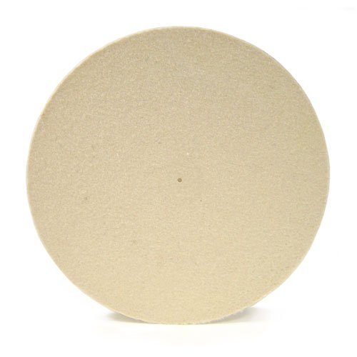 Medium White Wheel 16'' Dia X 3'' Thick X 1/8'' Center Hole Diameter by The Felt Store