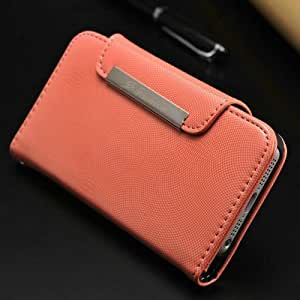 ModernGut FASHION Leather Wallet Case For Iphone 5 5g 5s Luxury Stand Cover With Credit Card Holders + 1 Bill Site + 9 colors