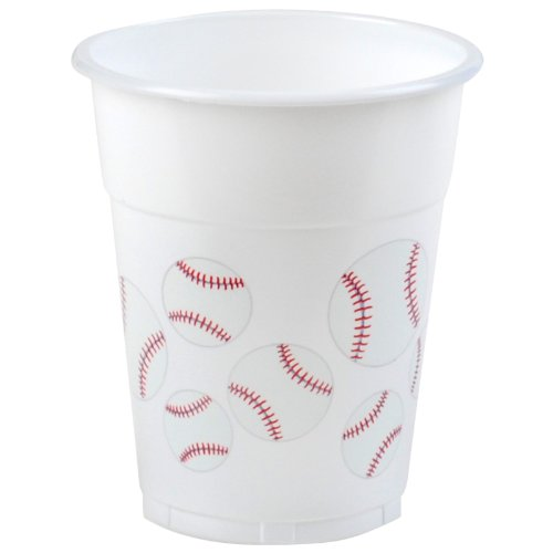 Baseball 14 oz. Plastic Cups [Health and Beauty] by Amscan -