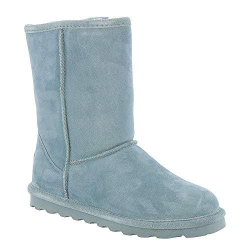 (BEARPAW Women's Elle Short Winter Boot (5 M US Big Kid, Powder Blue))