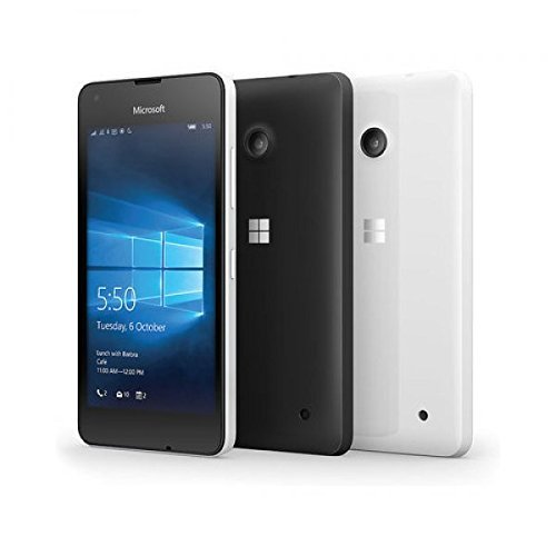 Microsoft Lumia 550 RM-1127 8GB Factory Unlocked 4G/LTE - International Version with No Warranty (White) (Certified Refurbished) by Microsoft