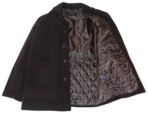 Alfani Men's Cashmere blend Wool Coat Chestnut Small (Coat Alfani)