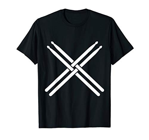 (Drummer Drums Drumsticks Rock Music Metal Band Sticks Gift T-Shirt)
