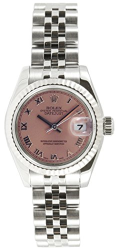 (Rolex Ladys 179174 Datejust Stainless Steel Jubilee Band, Fluted Bezel & Salmon Roman Dial)