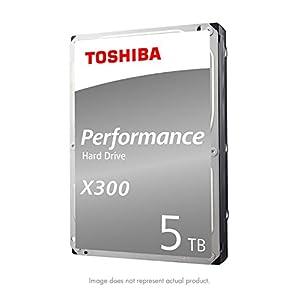 Toshiba X300 5TB Performance Desktop and Gaming Hard Drive 7200 RPM 128MB Cache SATA 6.0Gb/s 3.5 Inch Internal Hard Drive (HDWE150XZSTA)