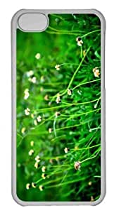 Customized iphone 5C PC Transparent Case - Fild Of Wildflowers Personalized Cover by mcsharks