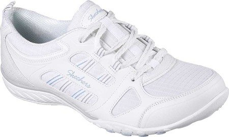 Good Luck Y Skechers Gris Mujer Zapatillas Blanco Breathe Easy para tRqqE8