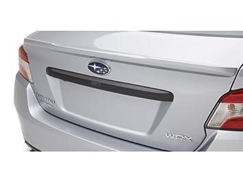 Carbon For Subaru WRX 4th STI Sedan Exterior Rear Trunk Lid Trim Tailgate Cover