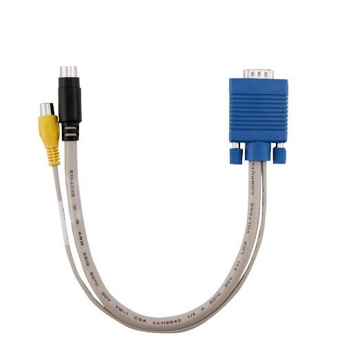 Connector S-video Vga - VGA to TV RCA S-video Converter Adapter Cable PC Laptop