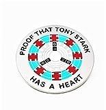 Proof that Tony Stark has a heart - Enamel Pin