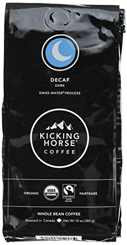 Kicking Horse Coffee, Decaf, Swiss Water Process, Dark Roast, Whole Bean, 10 Ounce