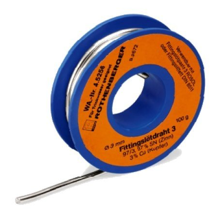 Ø3 mm Qualitäts-Weichlot 100 g Rothenberger Fittingslot