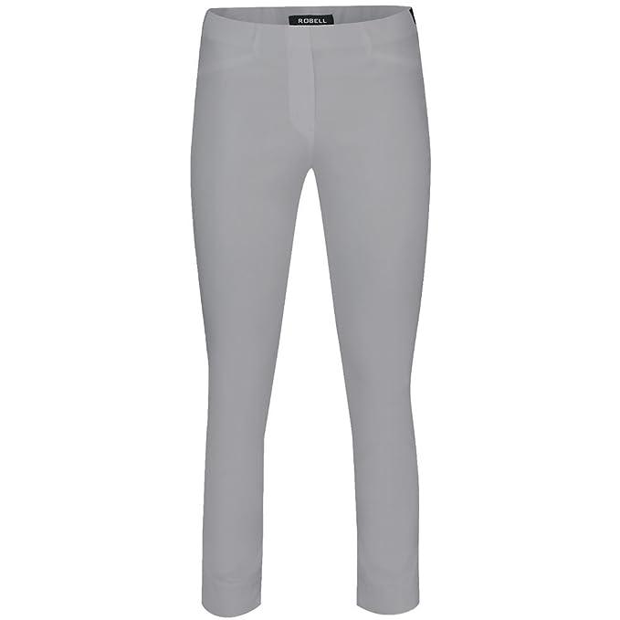 Robell Black Slim Fit Stretch Trouser 51412