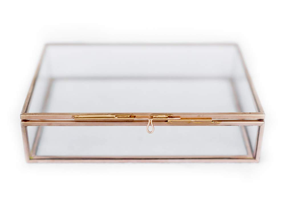 Glass Photo Box by Photography Specialties   4 x 6 Storage or photo display - Vintage Copper decorPhotographer Boxes 4x6 Glass Photo Box, Proof Box, Shadow Box, Card Box, Jewelry Box, Rose Gold Glass