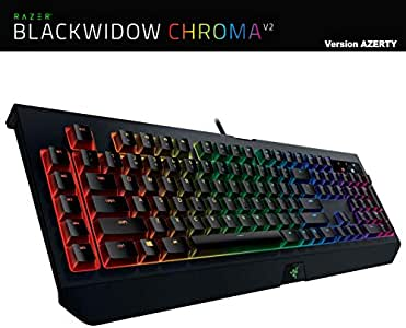 Teclado PC Gamer mecánico Razer BlackWidow Chroma V2 RZ03-0203 AZERTY RGB: Amazon.es: Informática