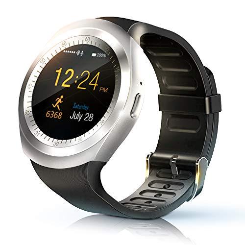 KawKaw Bluetooth Fitness-Smartwatch Wasserdicht für Outdoor mit Health-Monitor, Kamera, Pushbenachrichtigungen…