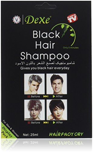 Instant Hair Dye - Black Hair Shampoo - (3) Black Color - Simple to Use - Last 30 days - Natural Ingredients! ()