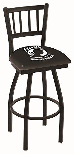 UPC 071235012281, Holland Bar Stool L018 - Black Wrinkle Pow/Miswivel Bar Stool W/ Jailhouse Style Back - 25 Inch