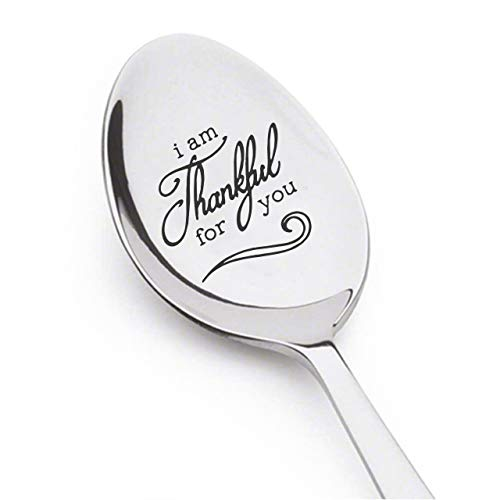 Sayings You Thank (I am Thankful for You Hand Stamped Teaspoon Personalized Gift Inspirational Saying Thanksgiving spoon Custom Stamping Personalized Spoon Christian Gift Thankful Thank You Gift Thanksgiving Gratitude.)